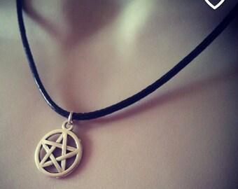 Gothic Pentagram Pagan Pentacle Charm Pendant Necklace Perfect Birthday Gift Boho Festival