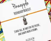 Silver Pineapple Friendship Bracelet | Best Friend Gift | Big Little Sorority | Pineapple Jewelry | For Her, Sister, Daughter, Friend