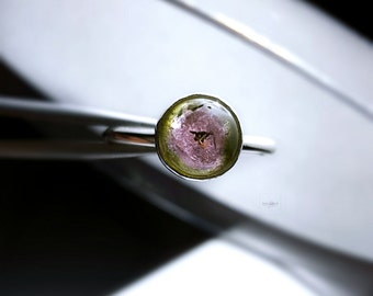 Watermelon Tourmaline Ring Watermelon Tourmaline Tourmaline Ring Watermelon Tourmaline Gemstone Bi Color Tourmaline Tourmaline Slice