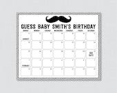 Mustache Baby Shower Birt...