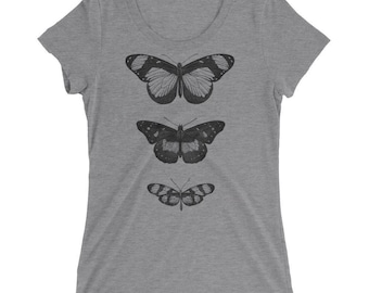 Butterfly Tshirt - Butterfly T Shirt - Butterfly Tee - Graphic Tee For Women - Gift for Her - Ladies Tshirt - by Bloom Bloom Wear