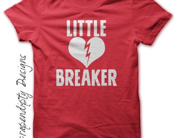 Boys Valentine Outfit - Little Heartbreaker Shirt / Toddler Red Tshirt / Valentine Baby Outfit / Valentine Day Shirt / Heart Tshirt Kids
