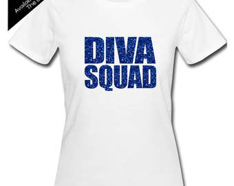 Diva Squad Shirt Impact - Personalize the Colors - Birthday Party Matching Shirts - Group Birthday Shirts