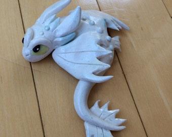 White Night Fury Dragon