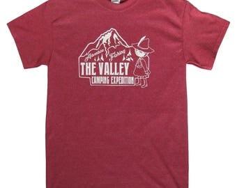 New Retro Cartoon Anime 'The Valley' Inspired T Shirt Top Mens Ladies Gildan Cotton
