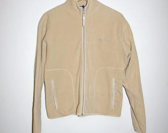 90's POLO SPORT FLEECE beige zip up jacket size small