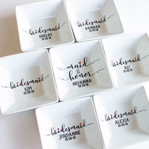 Best Gifts For Wedding Party: Bridesmaid Jewelry Dish Bridesmaid Gift Bridal Party Gift