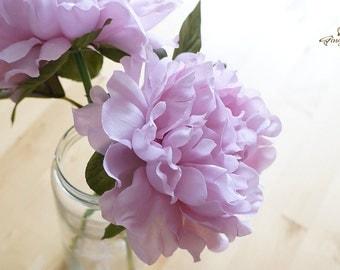 Light Purple Peony – silk flower – artificial flower – flower headpiece – wedding décor – wedding bouquet (FB56-1)