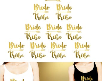 Set 10 Iron on transfer,1- Bride, 9-Bride Tribe iron on transfers,Bachelorette Party- Iron on -DIY Heat Transfer for T shirt