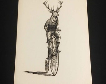 The Rider, fine art print on aged quality textured 300gr paper