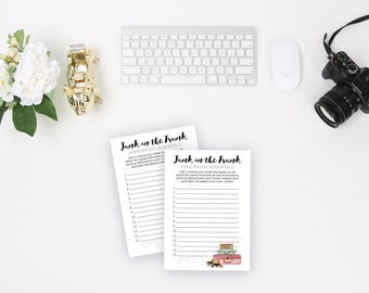 Bridal Shower Game Travel Theme Junk in the Trunk Wedding Shower Game Instant Download Printable