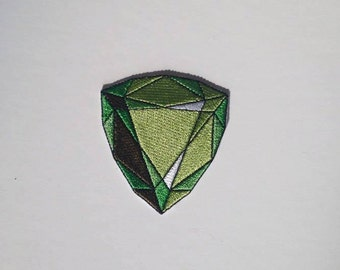 Emerald Gemstone Iron on Patch