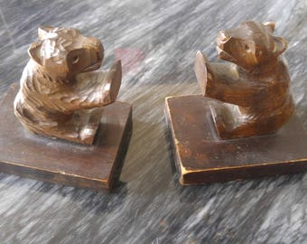 Brown Bear Bookends