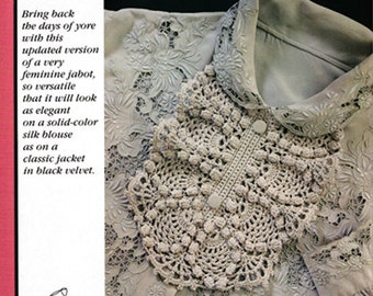 Jabot crochet pattern PDF digital file