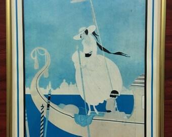 Vintage VOGUE Print (June 1, 1916) with vintage frame