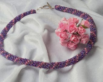 Amethyst, Pink and Purple Russian Spiral Necklace