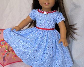 Doll Dress Blue fits like AG clothes