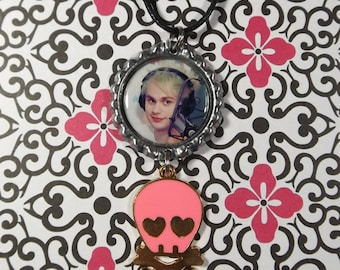 Michael Clifford Necklace w/ Skull Charm (Includes A Black Cord Necklace) 5SOS