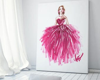 Art poster, Princess art, Fashion illustration, Fashion art, Fashion wall art, Fashion sketch, Princess painting, Princess poster