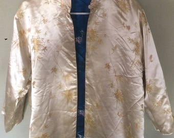 Elegant Reversible Asian Brocade Jacket