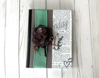 Flower Journal, Altered Journal, Feminine Journal, Travel Journal, Dream Journal, Prayer Journal, Altered Notebook, Purple Journal