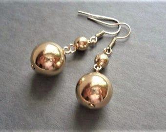 Gold Earrings Bridesmaid Gift Long Earrings Wedding Jewelry Simple Earrings Gold Jewelry Bridesmaid Earrings Everyday Jewelry Gift For Women