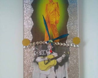 Handmade Acrylic Elvis Presley Clock, Functional Art, Handmade, Elvis Clock, Rock And Roll Clock, Retro Clock, Wall Clock, Made By Mod.