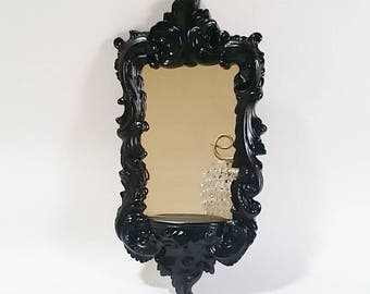 Black Wall Mirror, Hollywood Regency Mirror, Decorative Wall Mirrors, Wall Mirrors Decorative