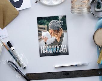 Hanukkah Card - holiday card - Photo holiday card - holiday photo card - happy hanukkah - greeting card - holiday card - menorah - chanukah