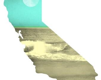 California Shore - 11 x 14 Matted Print