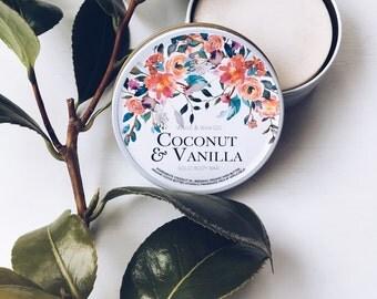 COCONUT & VANILLA Solid Body Bar | Natural Body Bar | Natural Solid Lotion Bar