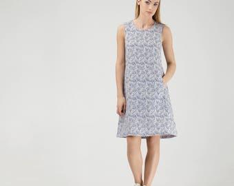 Subtly Textured Linen Dress