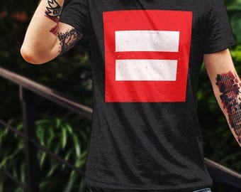 Equality Shirt, LGBT T-Shirt, Equal Rights Tee, Gifts For Him, LGBTQ Graphic Tee, Love Is Love Shirt, Equal Love, Gay Rights, Lesbian Rights