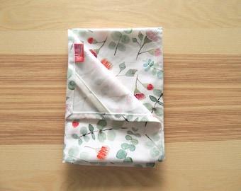 Watercolour floral tea towel