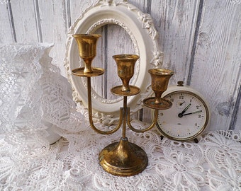 Candleholder - old candle stick -  vintage brass candle holders