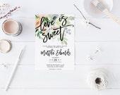 Amour de printemps est Sweet mariée douche Invitation fête Invitation poules fête Bachelorette Party Invite imprimable Invitation de mariage