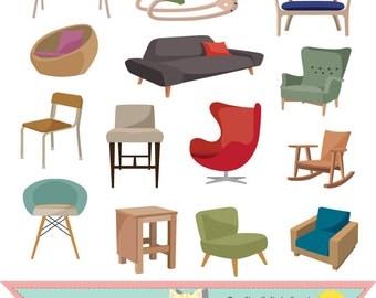 Stühle clipart  Stuhl clipart | Etsy