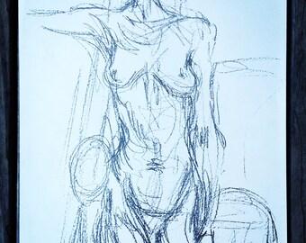 Lithograph by Alberto Giacometti for Derrière le Miroir