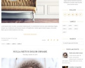 Blogger Template, Premade Blogger Templates, Responsive Blogger Template, Blogger Blog, Blogspot Template, Minimal, Simple, Gold - Amber