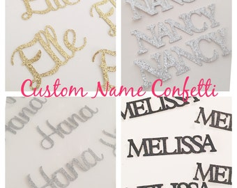 Cursive Birthday Name confetti, birthday name confetti, glitter custom cursive name confetti, 30th birthday, 40th, 50th, 1st birthday- Up to