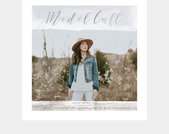 Model Call Template for Photographers - Senior Model Call - Family Model Call - Boudoir Model Call - Marketing Template - Instagram Template
