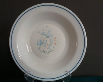 Blue pyrex - Iris / Blue Iris soup bowl - replacement bowl , pyrex england