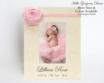 Baby Gift Personalized Picture Frame Gift to Newborn New Baby New Parents Present Baby Girl Photo Frame Keepsake Custom Nursery Decor Ideas
