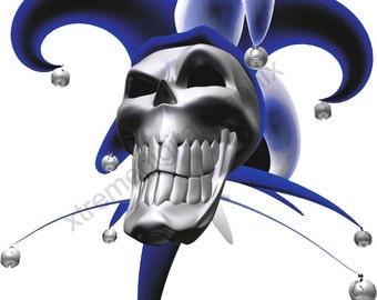 Jester Skull Truck Tailgate vinyl Graphic sticker