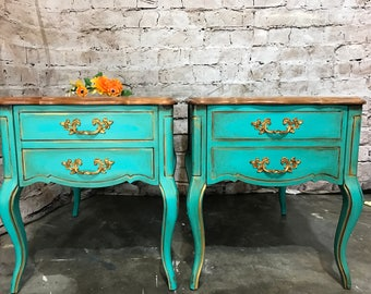 SOLD~French Provincial Side Tables, Nightstands, End Tables, Coffee Tables