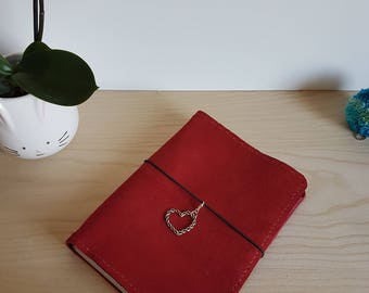 Suede Leather Travelers Notebook with pockets - Stitchdori - TN - Planner - Handmade - Journal Notebook - A5 - Fauxdori