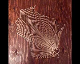 Wisconsin String Art | Made to Order, Custom String Art
