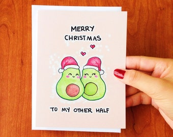 Funny Christmas card funny, Cute Christmas card boyfriend, Funny holiday card for girlfriend, Cute holiday card for husband, Punny card