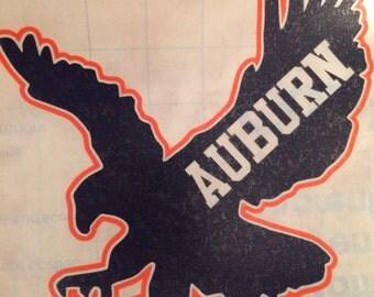 Auburn Tigers Yeti - Auburn Decal - Auburn Yeti - Auburn University - War Eagle - Auburn Tigers Decal - FREE SHIPPING!