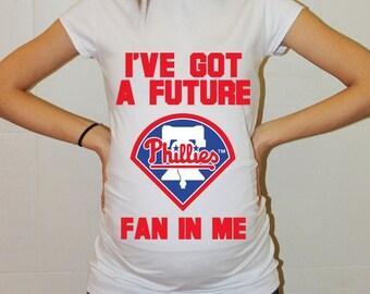 Philadelphia Phillies Baby Philadelphia Phillies Shirt Women Maternity Shirt Funny Baseball Pregnancy Pregnancy Shirts Pregnancy Clothing